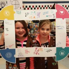 "Brownie Troop 68174 with the ""puzzle frame"""